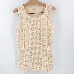 LOFT Crochet Sleeveless Top
